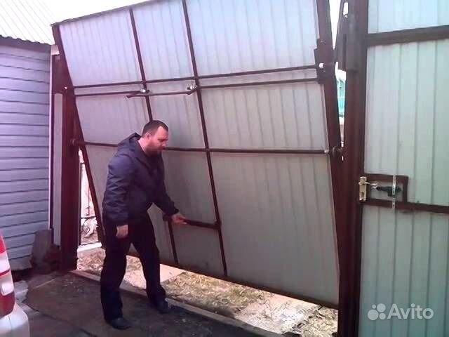 Как сделать ворота в гараж своими руками