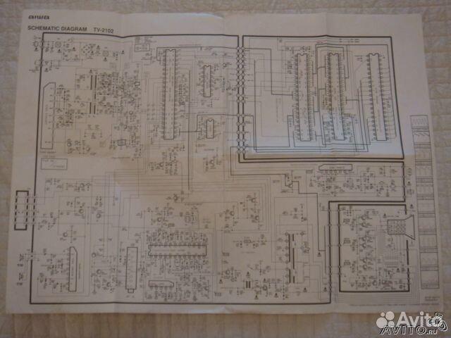 диаграма Aiwa TV - 2102