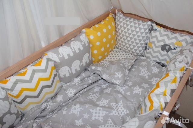 Бортики подушками своими руками 96