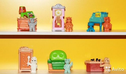 Мебель для игрушек из киндера