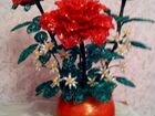 Различные цветы из бисера ручная работа