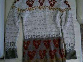 Платье из вязанного трикотажа
