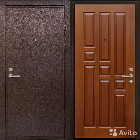 двери стальные порошковое мдф