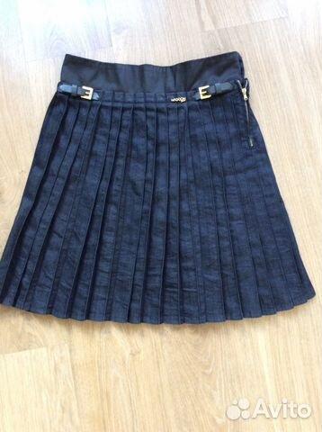 Купить джинсовую юбку в складку
