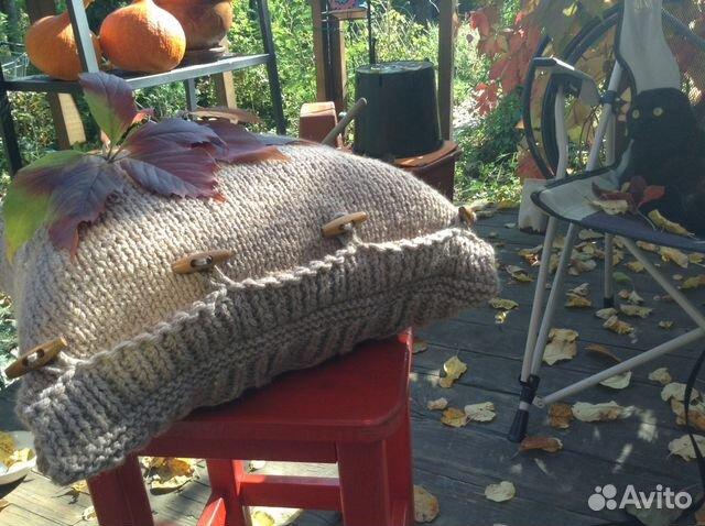 вязание спицами наволочка для подушки купить в москве на Avito