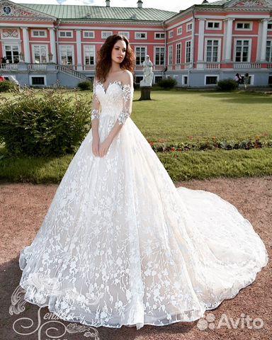 e21a13abeb9 Свадебное платье со шлейфом купить в Ростовской области на Avito ...