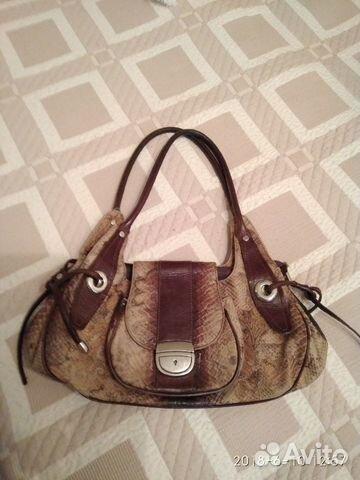 Женская винтажная сумка из змеиной кожи  6a80f61e6da17