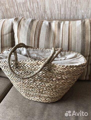 Пляжная соломенная сумка купить в Москве на Avito — Объявления на ... 6399eeee771
