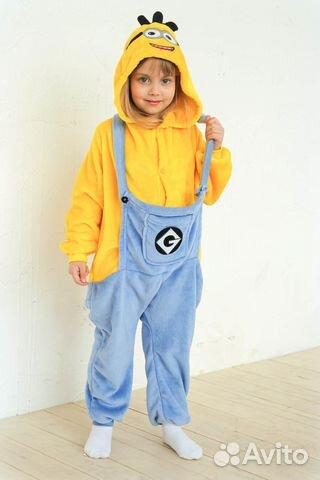 Пижама Кигуруми Миньон детская. Размер 100см  97d685215be73