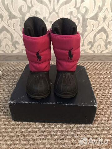 Сапоги для девочки Polo Ralph Lauren. Размер 23.5 66b875cbac197