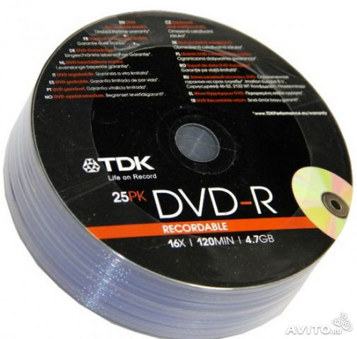 TDK DVD+ R 4.7GB 16x Shrink/25— фотография №1
