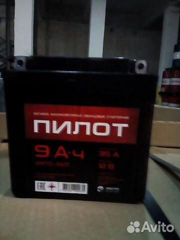 Аккумулятор мотоциклетный 6мтс-9 П.П. 9А/Ч, 12Вт