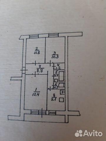 3-к квартира, 64 м², 5/5 эт. 89092658119 купить 1