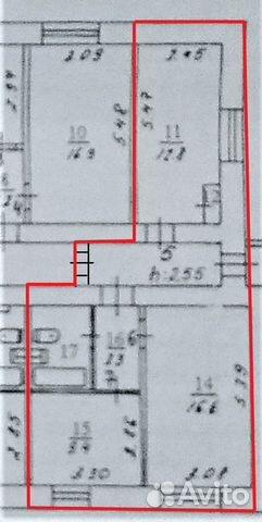 2-к квартира, 45 м², 1/9 эт.