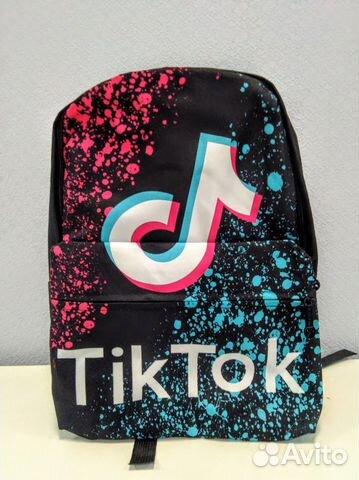 Рюкзак Тик ток TikTok черный капли  89141215253 купить 3