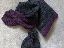 Комплект шапка+шарф вязаный Hugo Boss