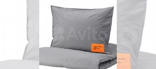 IKEA x Virgil Abloh Markerad постельное белье купить в Новосибирской области с доставкой | Товары для дома и дачи | Авито