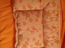 Новая подушка из хлопок/шерсть