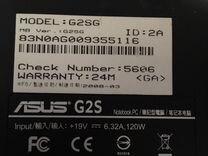 Игровой ноутбук asus G2SG