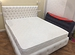 Кровать, каретная стяжка, мягкая обивка (новая, га