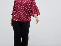 Рубашка марсала в горошек 56-58
