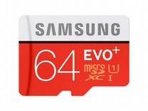 Карта памяти SAMSUNG microsdhc EVO Plus 64Gb U3 60