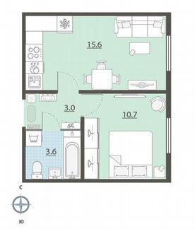 1-к квартира, 32.9 м², 13/25 эт. объявление продам