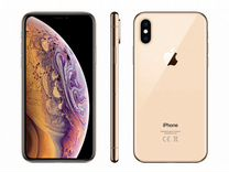 iPhone XS 64GB gold + AirPods